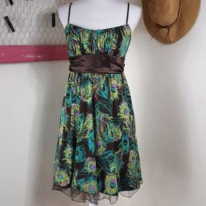 Ruby Rox Dresses - Like New! Ruby Rox Peacock Tie Back Dress